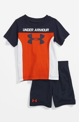 Under Armour 'Protect This House' T-Shirt & Shorts (Baby Boys) Toxic Orange/ Midnight 18M