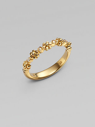 Temple St. Clair 18K Gold Diamond Accented Small Fiori Ring