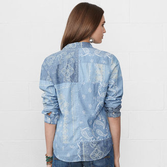Denim & Supply Ralph Lauren Bandanna Tomboy Shirt