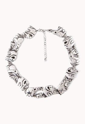 Forever 21 Elephant Parade Necklace