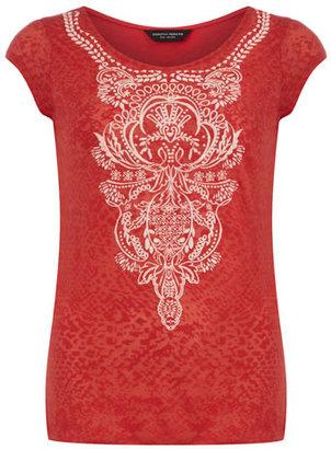Dorothy Perkins Red puff print t-shirt