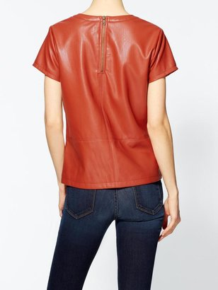 Vince Tinley Road Colored Vegan Leather Tee
