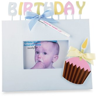Mud Pie Birthday Wishes 6-Foot x 4-Foot Autograph Frame