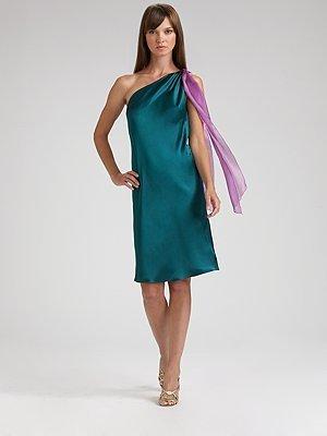 Just Cavalli Silk & Satin Scarf Dress