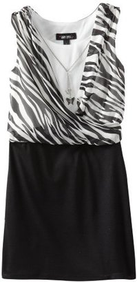 Amy Byer Girls 7-16 Blouse with Pencil Skirt