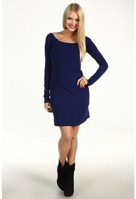 Susana Monaco Sheath Dress With U-Shaped Back (Indigo) - Apparel