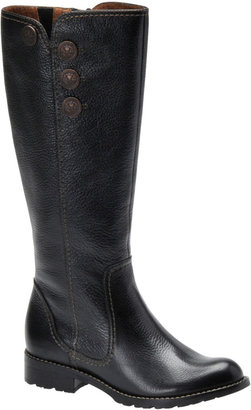 Sofft Bellvue Tall Leather Riding Boots with Button Accents