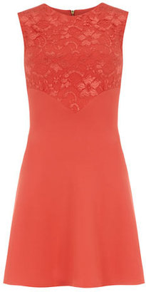 Dorothy Perkins Coral pointed lace panel dress