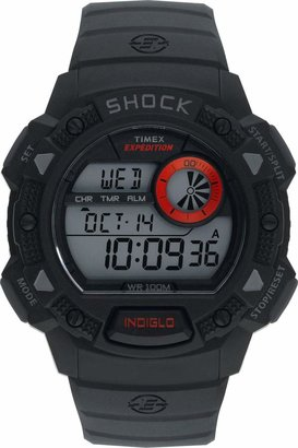 Timex Men's Expedition Black Resin Strap Base Shock Watch