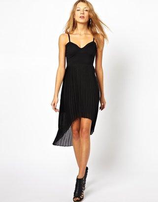 Motel Dress With Dipped Hem