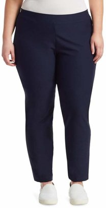 Eileen Fisher Eileen Fisher, Plus Size System Slim Stretch-Crepe Ankle Pants