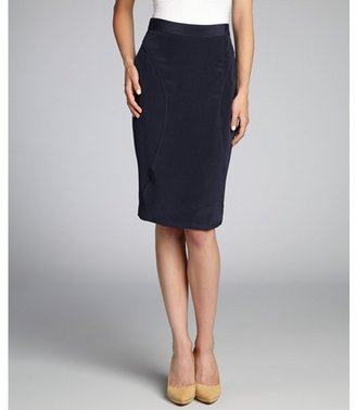 Rebecca Minkoff true navy silk 'Della' skirt
