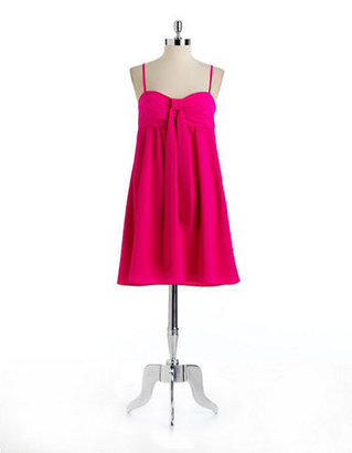 Oleg Cassini Empire Dress With Tie Detail