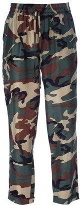 P.A.R.O.S.H. drawstring camouflage print trouser