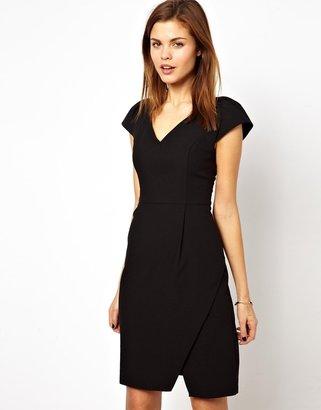 A/Wear A Wear V Neck Wrap Dress