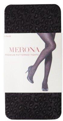 Merona Women's Premium Pattern Tights - Black Animal