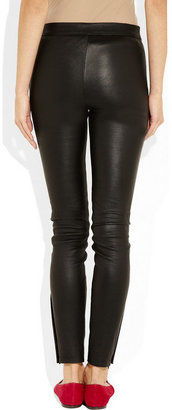 Valentino Leather skinny pants