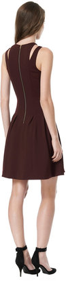 Rebecca Taylor Ponte Cutout Dress