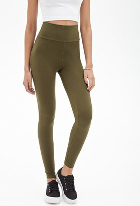 Forever 21 Everyday Fold-Over Leggings