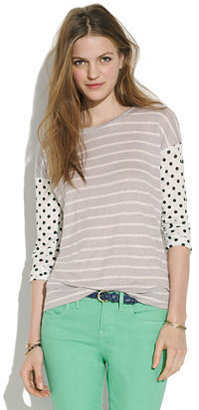 Madewell Easy Tee in Dots & Stripes