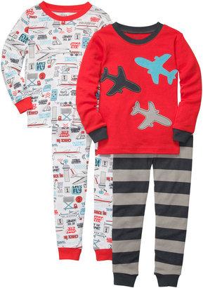Carter's 4-pc. Planes & Trains Pajama Set - Boys 2t-5t