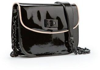 MANGO Patent shoulder bag