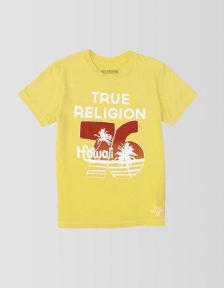 True Religion Boys Hawaii 76 Short Sleeve Crew Neck Tee