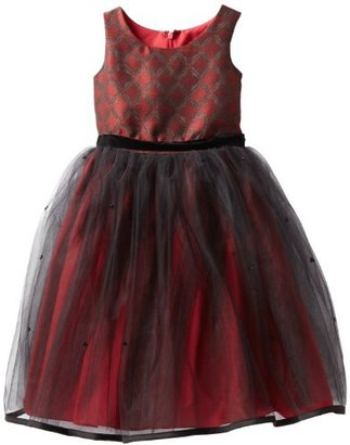 Us Angels Girls 2-6X Jacquard And Tulle Dress