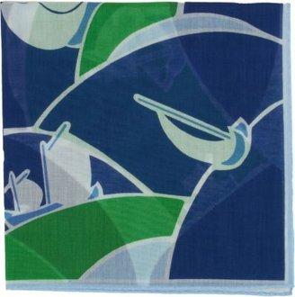 Drakes Drake's Deco Yacht Print Handkerchief