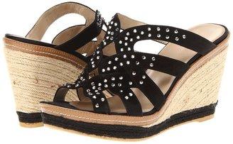 Bandolino Kasbar (Black Suede) - Footwear