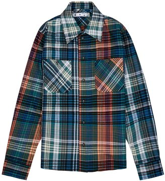 Off-White Stencil Checked Flannel Shirt