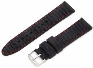 Hadley Roma Hadley-Roma 22mm 'Men's' Silicone Watch Strap