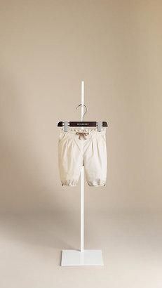 Burberry Tie Waist Cotton Trousers