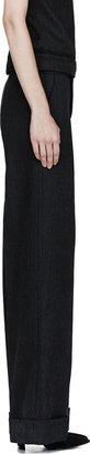 Marni Black Wool Cover Pillar Trousers