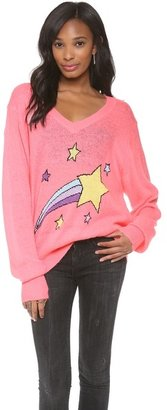 Wildfox Couture Shooting Star V Neck Sweatshirt