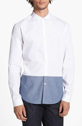 Topman 'Smart' Slim Fit Contrast Dress Shirt