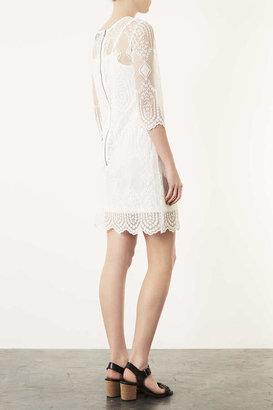 Topshop Lace Placement Bodycon Dress