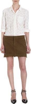 Nili Lotan Frayed Edge Mini Skirt