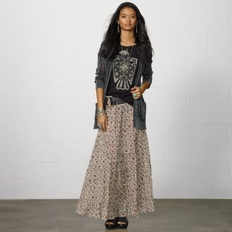 Denim & Supply Ralph Lauren Lyon Paisley Tiered Maxiskirt