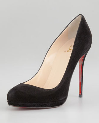 Christian Louboutin Filo Suede Platform Red Sole Pump