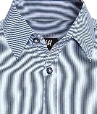 H&M Slim-fit Shirt - Blue