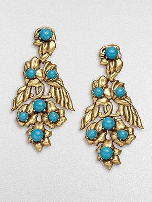 Oscar de la Renta Floral Cluster Earrings