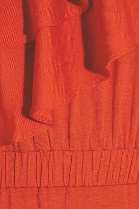 T-Bags Ruffled stretch-jersey maxi dress