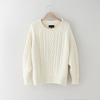 Nili Lotan cable raglan sweater