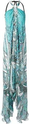 Roberto Cavalli long printed dress