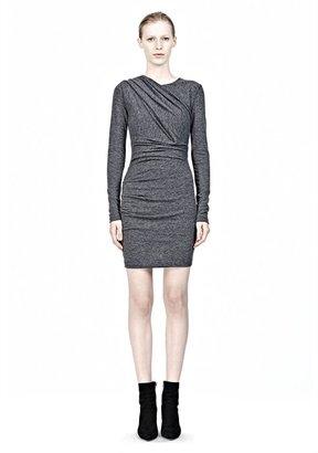Alexander Wang Mohair Jersey Long Sleeve Drape Dress