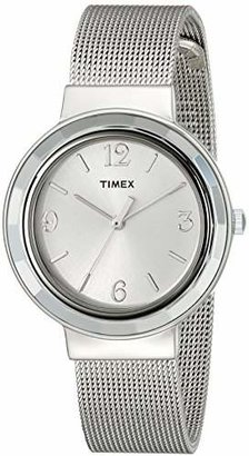 Timex Women's T2P196KW Ameritus Silver-Tone Stainless Steel Mesh Bracelet Dress Watch $55 thestylecure.com