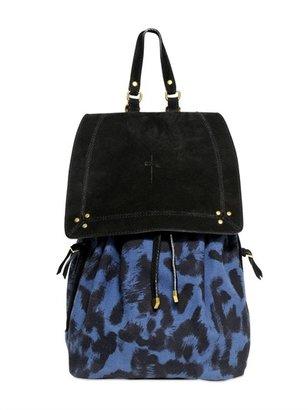Jerome Dreyfuss Florent Leopard Printed Canvas Backpack