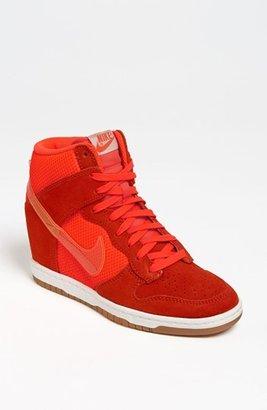 Nike 'Dunk Sky Hi' Wedge Sneaker (Women) Womens Orange Size 8.5 M 8.5 M