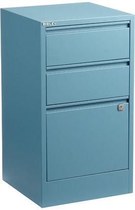 Bisley 3-Drawer File Cabinet Blue